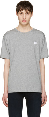 Acne Studios Grey Niagara Face T-Shirt $130 thestylecure.com