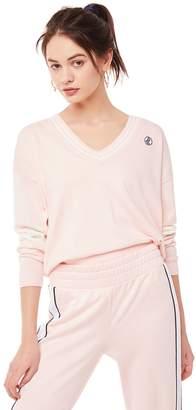 Juicy Couture Jxjc Logo Varsity V Neck Sweater