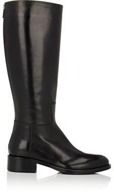Barneys New York Women's Back-Zip Riding Boots-BLACK $525 thestylecure.com
