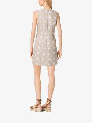MICHAEL Michael Kors Floral-Print Linen Dress