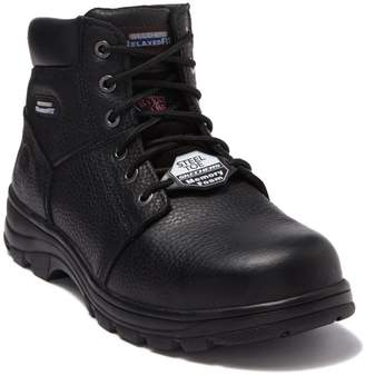 Skechers Workshire Relaxed Fit Oil Resistant Leather Lug Boot