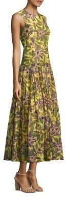 RED ValentinoRED Valentino Floral-Print Drop-Waist Midi Dress