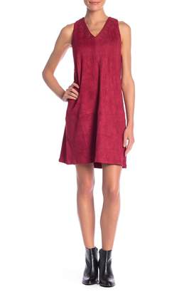 Sugar Lips Sugarlips Faux Suede Sleeveless V-Neck Dress