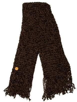 Fendi Knit Fringe Scarf