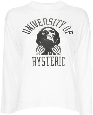 Hysteric Glamour 3/4 sleeve University of HYS T-shirt