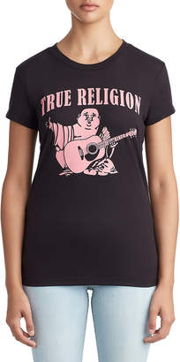 True Religion WOMENS CLASSIC BUDDHA LOGO GRAPHIC TEE FOR BREAST CANCER