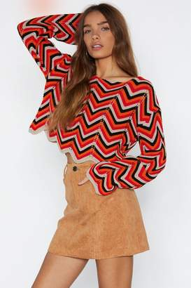 Nasty Gal Fault Line Chevron Sweater
