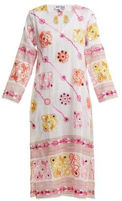 Juliet Dunn Sequin-embellished embroidered cotton dress