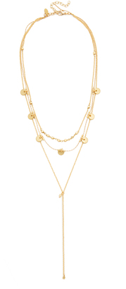 Shashi Disc Lariat Necklace $92 thestylecure.com