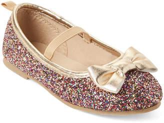 Carter's Toddler Girls) Big Bow Glitter Mary Jane Flats