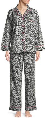 BedHead Wild Kingdom Classic Pajama Set, Gray Pattern