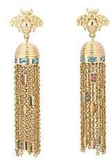 Brent Neale Women's Beehive Tassel Earrings-Gold