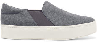 Vince - Warren Felt Slip-on Sneakers - Gray $225 thestylecure.com