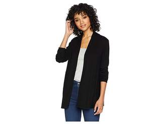 Michael Stars 2X1 Rib Long Sleeve Cardigan
