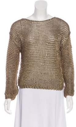 Barbara Bui Knit Long Sleeve Sweater
