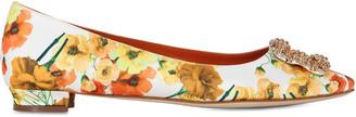10mm Hangisi Mel Printed Satin Flats $983 thestylecure.com