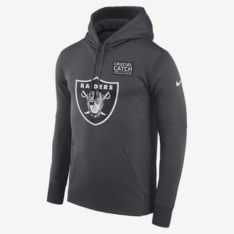 Nike Dri-FIT Therma Crucial Catch (NFL Raiders) Men's Pullover Hoodie