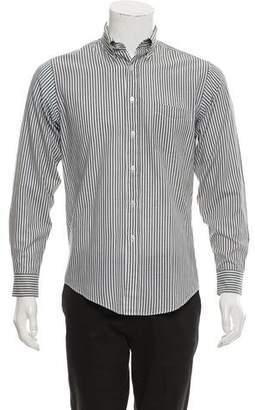 Lanvin Striped Button-Up Top