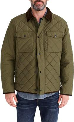 J.Crew Sussex Quilted Jacket with Corduroy Collar