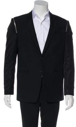 Givenchy Zip-Accented Wool Blazer