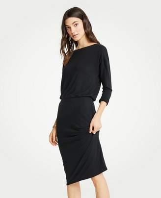 Ann Taylor Tall Shirred Sheath Dress