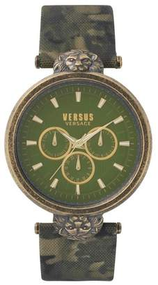 Versus By Versace VERSUS Versace Victoria Harbour Leather Strap Watch, 44mm