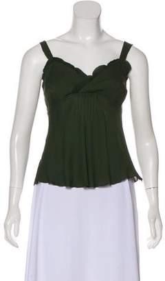 Magaschoni Sleeveless Silk Top