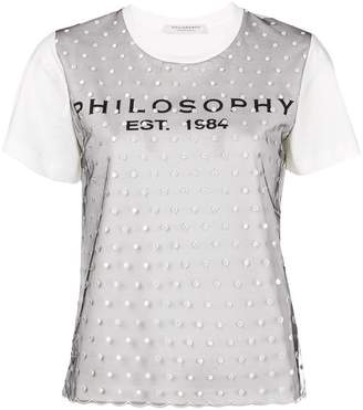 Philosophy di Lorenzo Serafini logo plumetti T-shirt