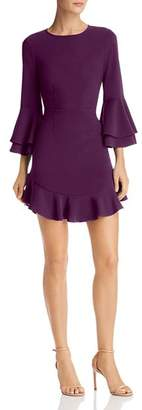 LIKELY Sammy Ruffled Bell-Sleeve Dress