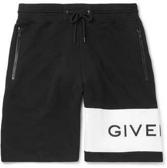 Givenchy Logo-Embroidered Loopback Cotton-Jersey Drawstring Shorts - Men - Black