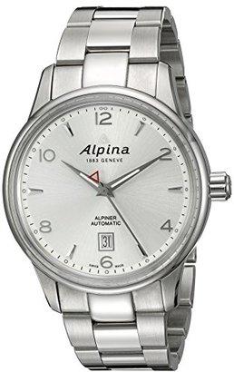 Alpina メンズal-525s4e6b Alpiner Analog Display Automatic Self Wind Silver Watch