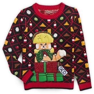 33 Degrees Boy's Holiday Taco Cat Sweater