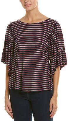 Bobeau Flounce Sleeve T-Shirt