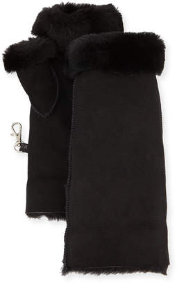 Gushlow And Cole Fingerless Shearling Mittens