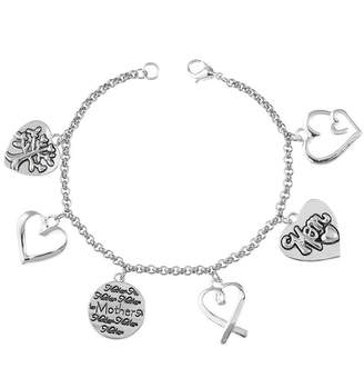 Footnotes Silver-Plated Stainless Steel Mom Charm Bracelet