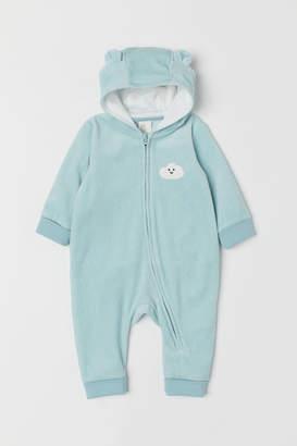 H&M Velour Jumpsuit - Turquoise