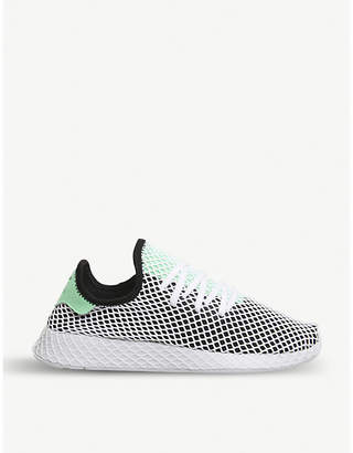 adidas Deerupt webbed-mesh and leather trainers