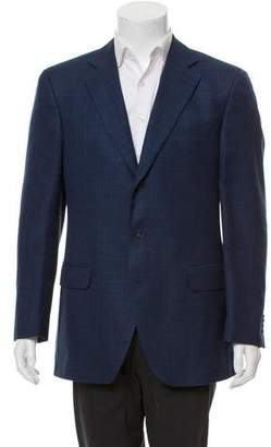 Luigi Bianchi Mantova Plaid Three-Button Blazer