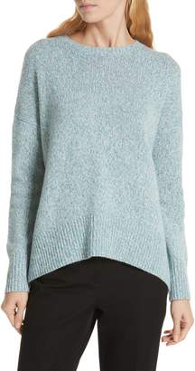 Nordstrom Signature High/Low Cashmere Tweed Sweater