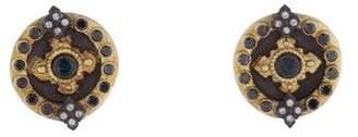 Armenta Two-Tone Diamond & Tourmaline Stud Earrings
