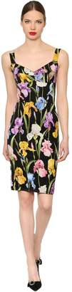 Dolce & Gabbana Floral Stretch Silk Charmeuse Dress