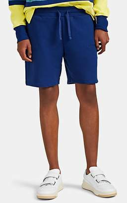 Leon AIMÉ DORE Men's Embroidered Cotton French Terry Shorts - Dk. Blue