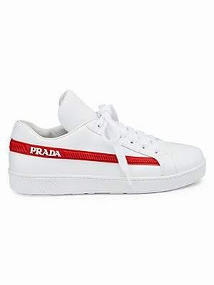 Prada Women's Leather Tennis Sneakers