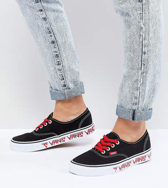 Vans Authentic Sneakers With Sketch Sidewall