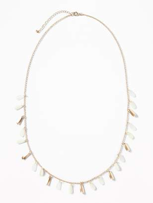 Old Navy Flower-Petal Station Necklace for Women