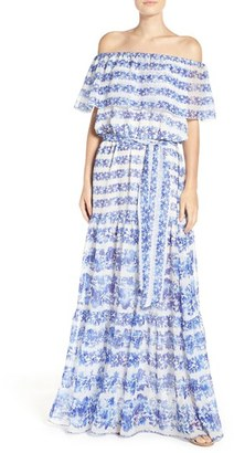 Petite Women's Eliza J Blouson Maxi Dress $158 thestylecure.com