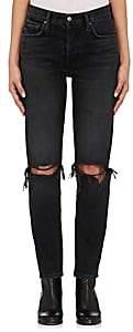 GRLFRND Women's Karolina Distressed Skinny Jeans-Gray