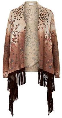 Cream Wool-Blend Flower Cardigan