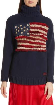 Polo Ralph Lauren Fringe Flag Wool Sweater