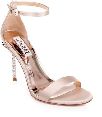 Badgley Mischka Collection Vicia Crystal Embellished Heel Sandal